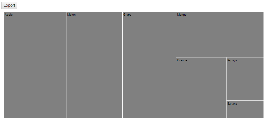 TreeMap with export option