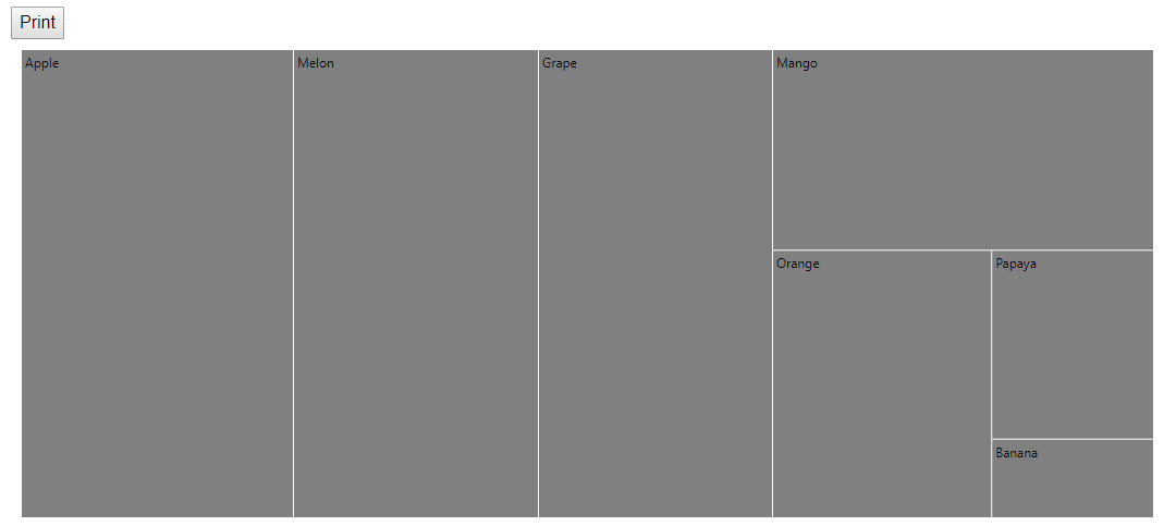TreeMap with print option